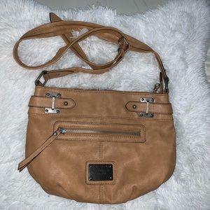 Nude Liz Claiborne GUC crossbody handbag purse